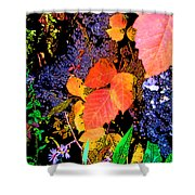 Bright Colorful Leaves Vertical Shower Curtain