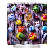 Bright Colorful Marbles Shower Curtain