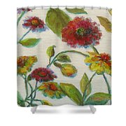 Bright Contemporary Floral  Shower Curtain