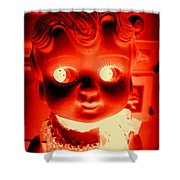 Bright Eyed Kewpie Shower Curtain