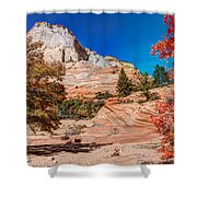 Bright Fall Colors At Zion Shower Curtain