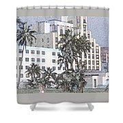 Bright Light Miami Beach Shower Curtain