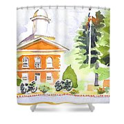 Bright Morning At The Courthouse Shower Curtain