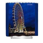 Bright Night Ferris Wheel Shower Curtain by Stwayne Keubrick