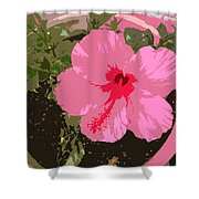 Bright Pink Shower Curtain