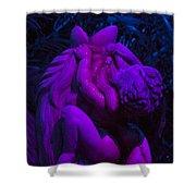 Bright Purple Cupid Shower Curtain