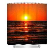Bright Skies - Sunset Art By Sharon Cummings Shower Curtain