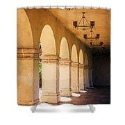 Bright Sun Cool Shade Balboa Park Shower Curtain