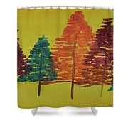 Bright Trees Shower Curtain