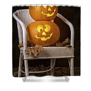 Brightly Lit Jack O Lanterns Shower Curtain
