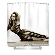 Brigitte Bardot French Actress Sex Symbol 1967 Shower Curtain
