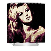 Brigitte Bardot Poster Art Shower Curtain