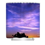 Brilliant Blue Sunrise Shower Curtain