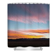 Brilliant Evening Colors Hang Shower Curtain