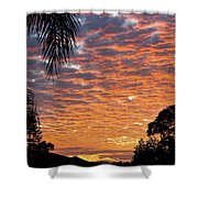 Brilliant Sunset During Winter Shower Curtain