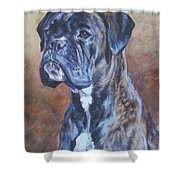 Brindle Boxer Shower Curtain
