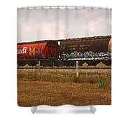 Bringing In The Wheat Canadian Railroad Shower Curtain