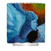 Bringing In Winter Shower Curtain