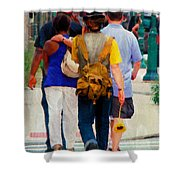 Bringing The Sunflower Home Shower Curtain
