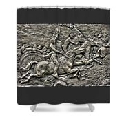 Bringing Up The Battery Detail-b 6th New York Independent Battery Horse Artillery Gettysburg Autumn Shower Curtain