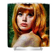 Brit Ekland - Abstract Expressionism Shower Curtain