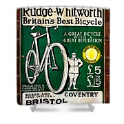 Britains Best Bicycle Shower Curtain