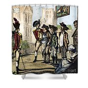 British Army, 1770s Shower Curtain