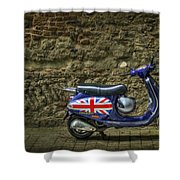 British At Heart Shower Curtain by Evelina Kremsdorf
