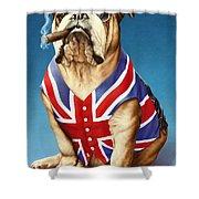 British Bulldog Shower Curtain by Andrew Farley