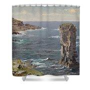 British Coastal View. Coast Of Cornwall Shower Curtain