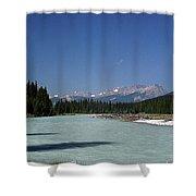 British Columbia Rockies Shower Curtain