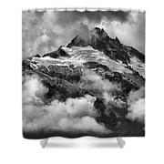 British Columbia Tantalus Mountain Range Shower Curtain