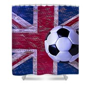 British Flag And Soccer Ball Shower Curtain
