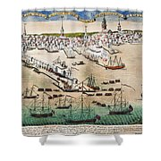 British Landing, 1768 Shower Curtain