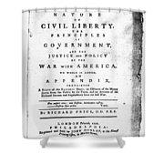 British Pamphlet, 1776 Shower Curtain