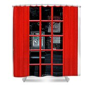 British Phone Box Shower Curtain
