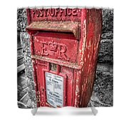 British Post Box Shower Curtain by Adrian Evans