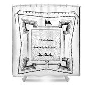 British Redoubt, 1777 Shower Curtain