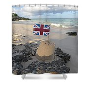 British Sandcastle Shower Curtain