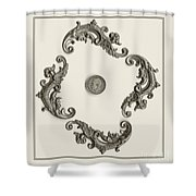 British Shilling Wall Art Shower Curtain by Joseph Baril