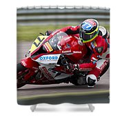British Superbike Rider Barry Burrell   Shower Curtain