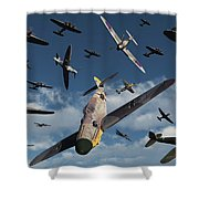 British Supermarine Spitfires Attacking Shower Curtain