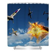 British Supermarine Spitfires Battle Shower Curtain