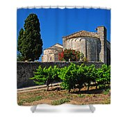 Brittany Vineyard And Monastery  Shower Curtain