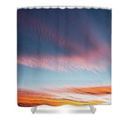 Broad Brushstrokes Of Clouds Paint Shower Curtain