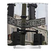 Broad Street And Meeting Street Charleston South Carolina Shower Curtain