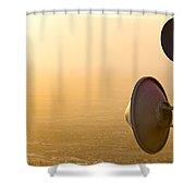 Broadcasting Shower Curtain