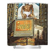 Broadway Billboards - New York Art Shower Curtain