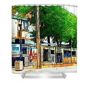 Broadway Oyster Bar With A Boost Shower Curtain