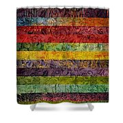 Brocade And Stripes Tower 1.0 Shower Curtain
